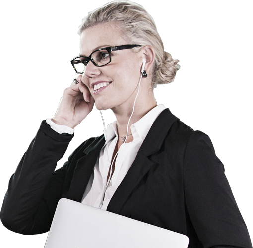 Lady with headset
