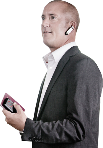 Guy with bluetooth headset